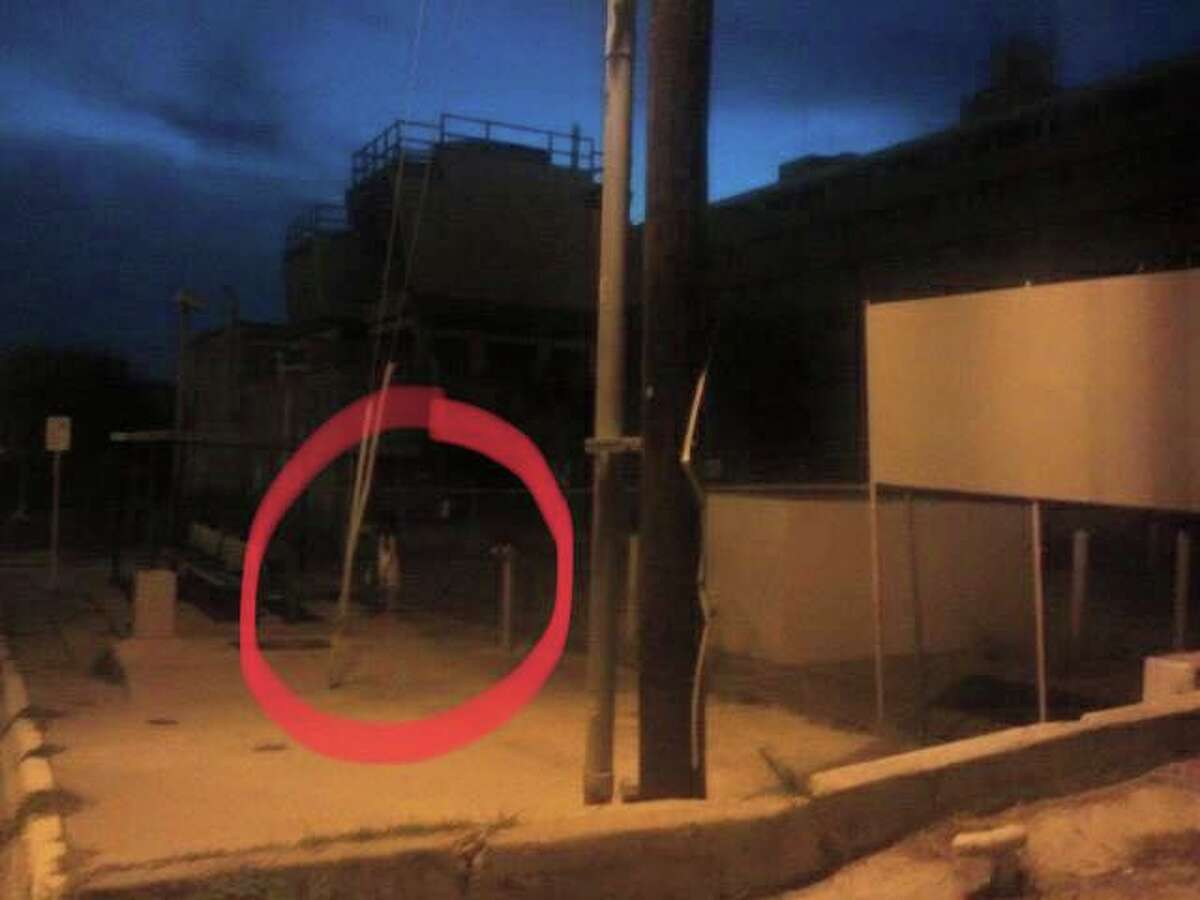 LPSI said this photo shows an apparition outside Mercy Hospital.