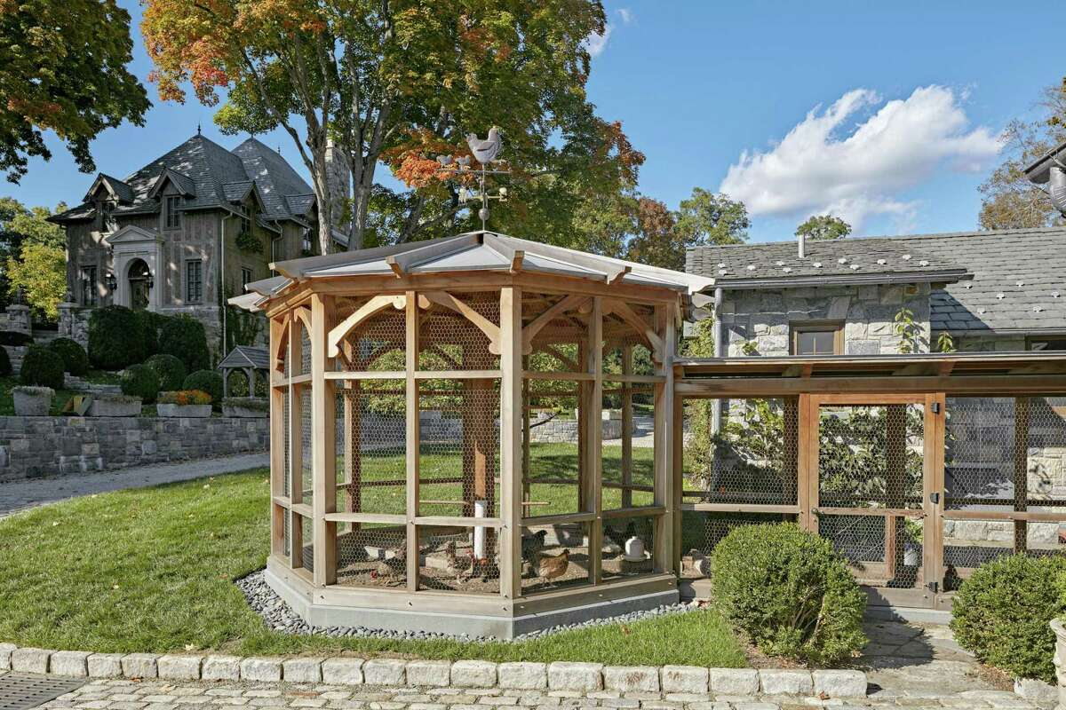 Charles Hilton Architects designed his chicken coop for Sleepy Cat Farm in Greenwich.