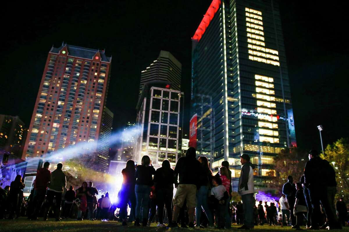 """Downtown Houston was bustling with activity during Super Bowl week in 2017. The city being awarded the 2023 Final Four was criticized by some this week, with one skeptic complaining of """"no downtown."""""""