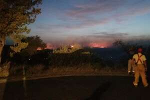 Texas firefighters are battling a 1,800 acre wildfire in Lllano, roughly 80 miles northwest of Austin.