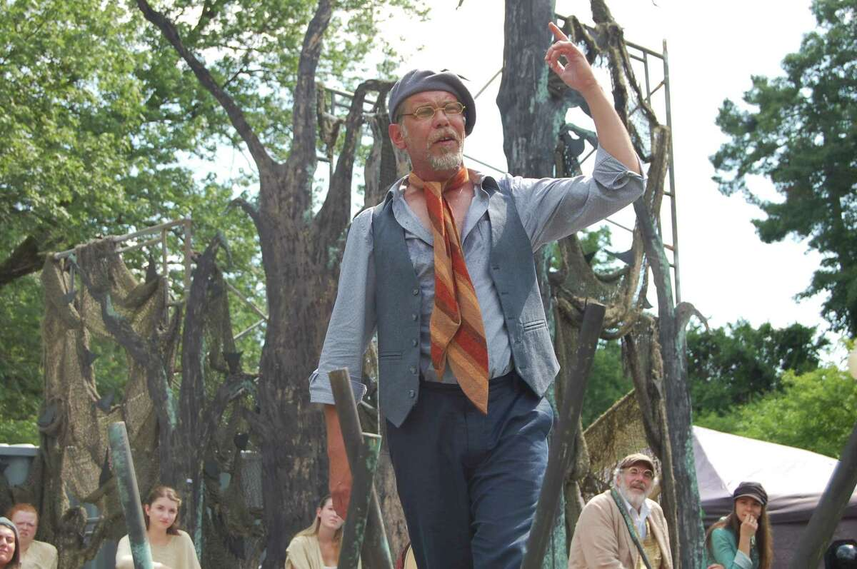 """Louis Butelli, shown in Saratoga Shakespeare Company's current production, """"As You Like It,"""" will be part of the Shakespeare in the Pines Festival on Friday at the Saratoga Performing Arts Center."""