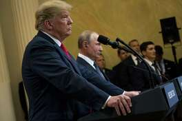 President Donald Trump and President Vladimir Putin of Russia appear at a joint news conference in Helsinki, Finland, on Monday. Trump has said his admirers will stand by him through anything. Some readers beg to differ.