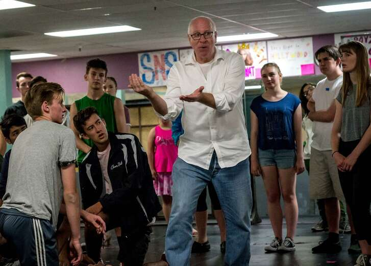 "Kevin Hauge, the Children's Musical Theater's artistic director, rehearses with the cast of ""West Side Story,"" which opens Friday, July 27."