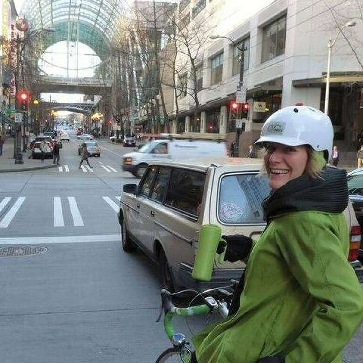 Barb Chamberlain, who works for the Washington State Department of Transportation, is a confirmed and avid bike rider in Seattle.