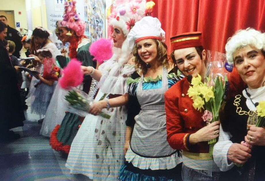 Members of the British Women's Pantomime Troupe after their Cinderella performance in 2015. Photo: Contributed Photos