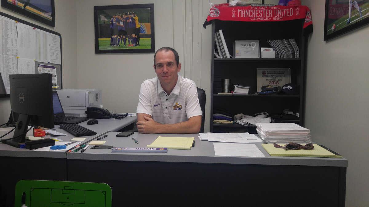 University at Albany men's soccer coach Trevor Gorman. (Pete Dougherty / Times Union)