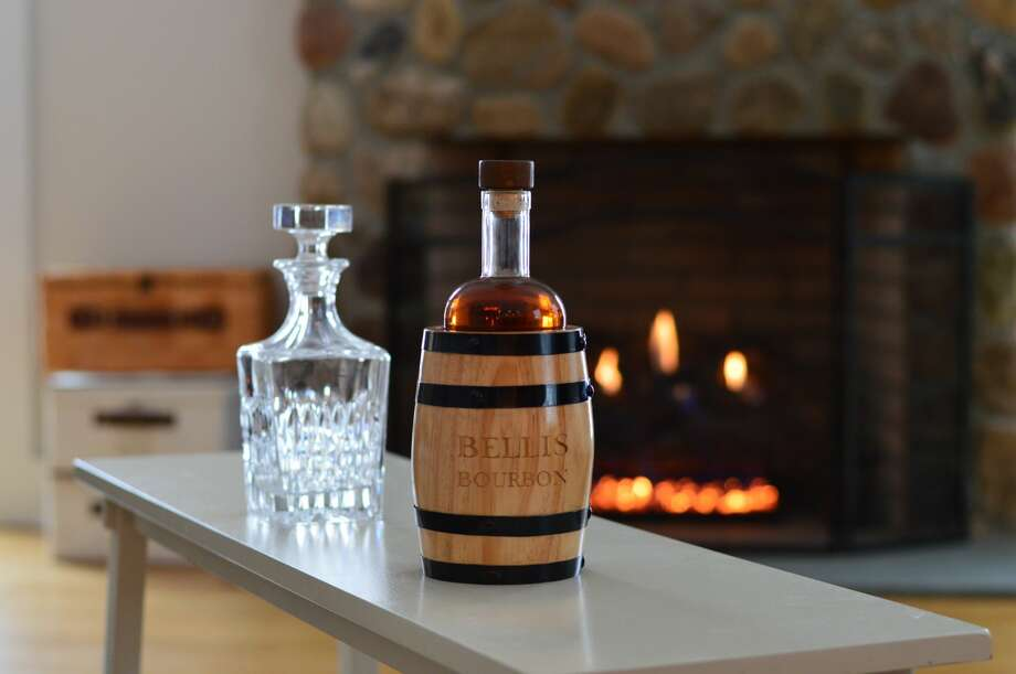 Connecticut natives Mike Bellis and Colin Santacroce have created a  unique bourbon packaged it mini barrels called Bellis Bourbon. Photo: Bellis Bourbon