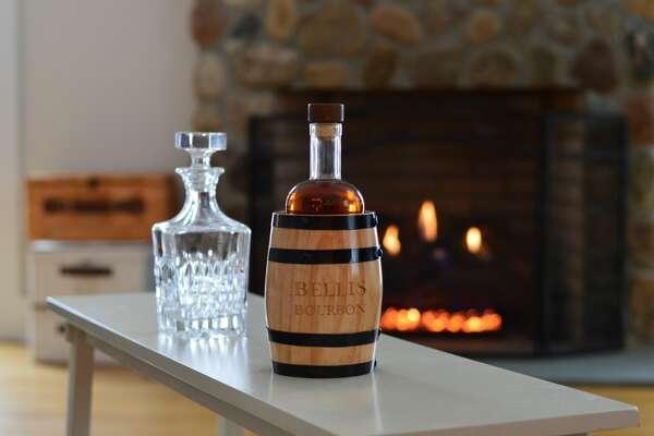 Connecticut natives Mike Bellis and Colin Santacroce have created a  unique bourbon packaged it mini barrels called Bellis Bourbon.