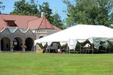 Preparations are underway on Wednesday for the annual summer book sale at the Pequot Library in Fairfield.  Fairfield,CT. 7/18/18