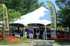 The 26th annual Westport Library Summer Book Sale was winding down under the tents on Jesup Green on Monday, July 16.