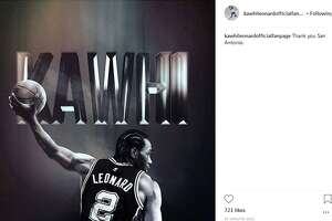 """""""Thank you San Antonio,"""" the caption on a post by the official Kawhi Leonard fanpage reads."""
