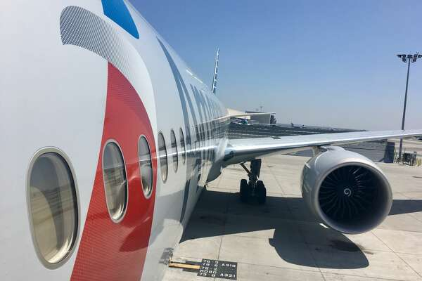 Going up air stairs can offer some expansive views of the plane, like this American Airlines Boeing 777-300ER at LAX   (Image: Tim Jue)