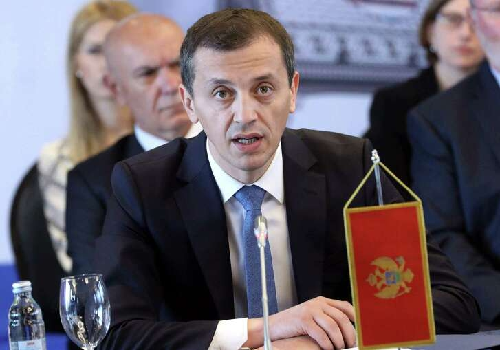 Montenegro's Defence Minister Predrag Boskovic addresses a meeting of the US Adriatic Charter group in Zagreb on July 13, 2018, during the second day of a two day working visit to Croatia. / AFP PHOTO / Denis LovrovicDENIS LOVROVIC/AFP/Getty Images