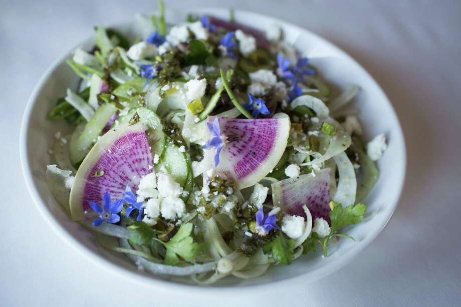 A salad from chef Charleen Badman of FnB in Scottsdale, Arizona. Badman will cook during a James Beard Foundation event at the Hotel Emma in October. Photo: The Washington Post /Getty Images / 2017 The Washington Post