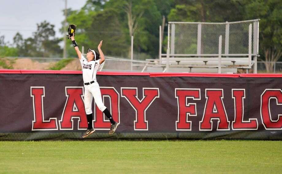 "Desiree ""Dez"" Cardenas has been on the Hargrave varsity softball team since she was a freshman Photo: Greg Valk"