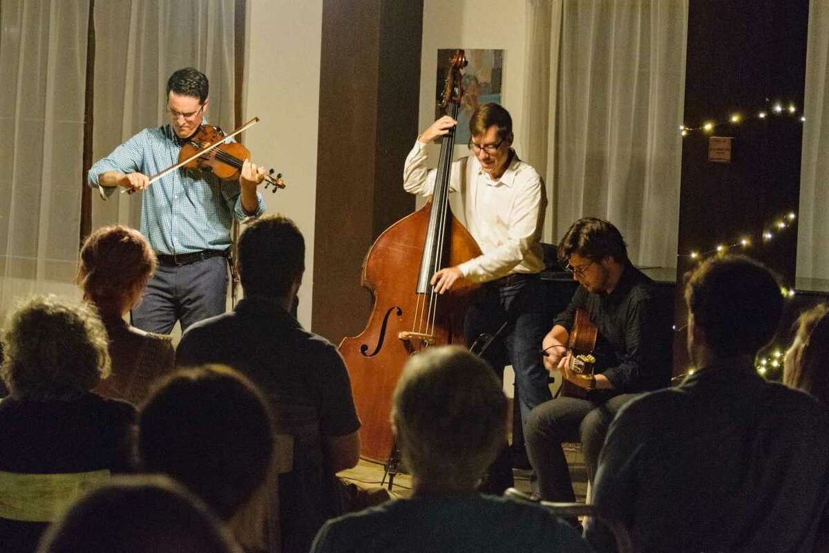 Caroga Lake Music Festival: Gypsy jazz music with Jason Anick trio as part of our Encore! Jazz sessions at Nick Stoner Inn. Photo by: Ron Rosenberg