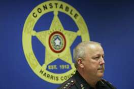 Constable Mark Herman speaks about a human smuggling operation during a press conference at the Harris County Courthouse Annex 17,  Friday, Aug. 28, 2015, in Houston. The operation led to four arrests. ( Jon Shapley / Houston Chronicle )