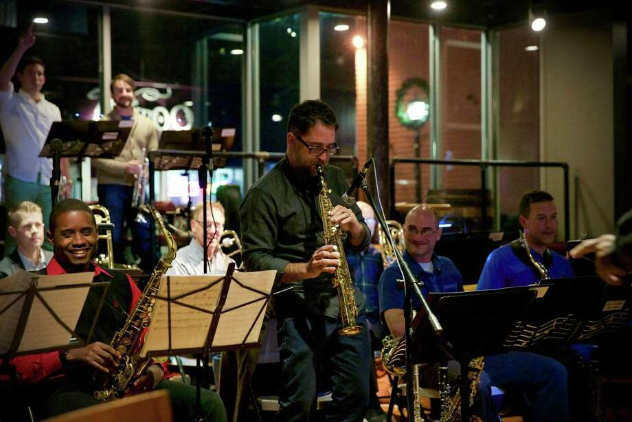 ON LIGHTHOUSE ROAD: New London Big Band takes the stage at the Pardee-Morris House (325 Lighthouse Road, New Haven) on July 25 (rain date July 26) at 7 p.m. The free performance is part of the 2018 Twilight Concert Series hosted by the New Haven Museum, which owns and operates the historic site. New London Big Band is a 17-piece jazz orchestra formed in 2016. Grounds open at 6 p.m. Photo: Courtesy Of New Haven Museum