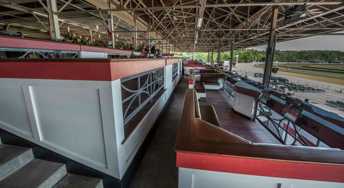 The Stretch is one of the new attractions that racing patrons will see at the Saratoga Race Course which was previewed Wednesday July 18, 2018 in Saratoga Springs, N.Y. (Skip Dickstein/Times Union)
