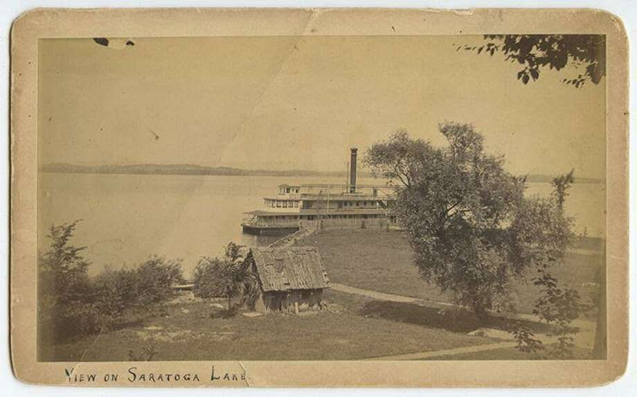 Undated picture of the largest steamer ever to travel Saratoga Lake, the Lady of the Lake, built in 1881 for the Fitchburg Railroad by James Rees and Sons of Pittsburg, Penn. The Lady was 160 feet long and carried 160 passengers.