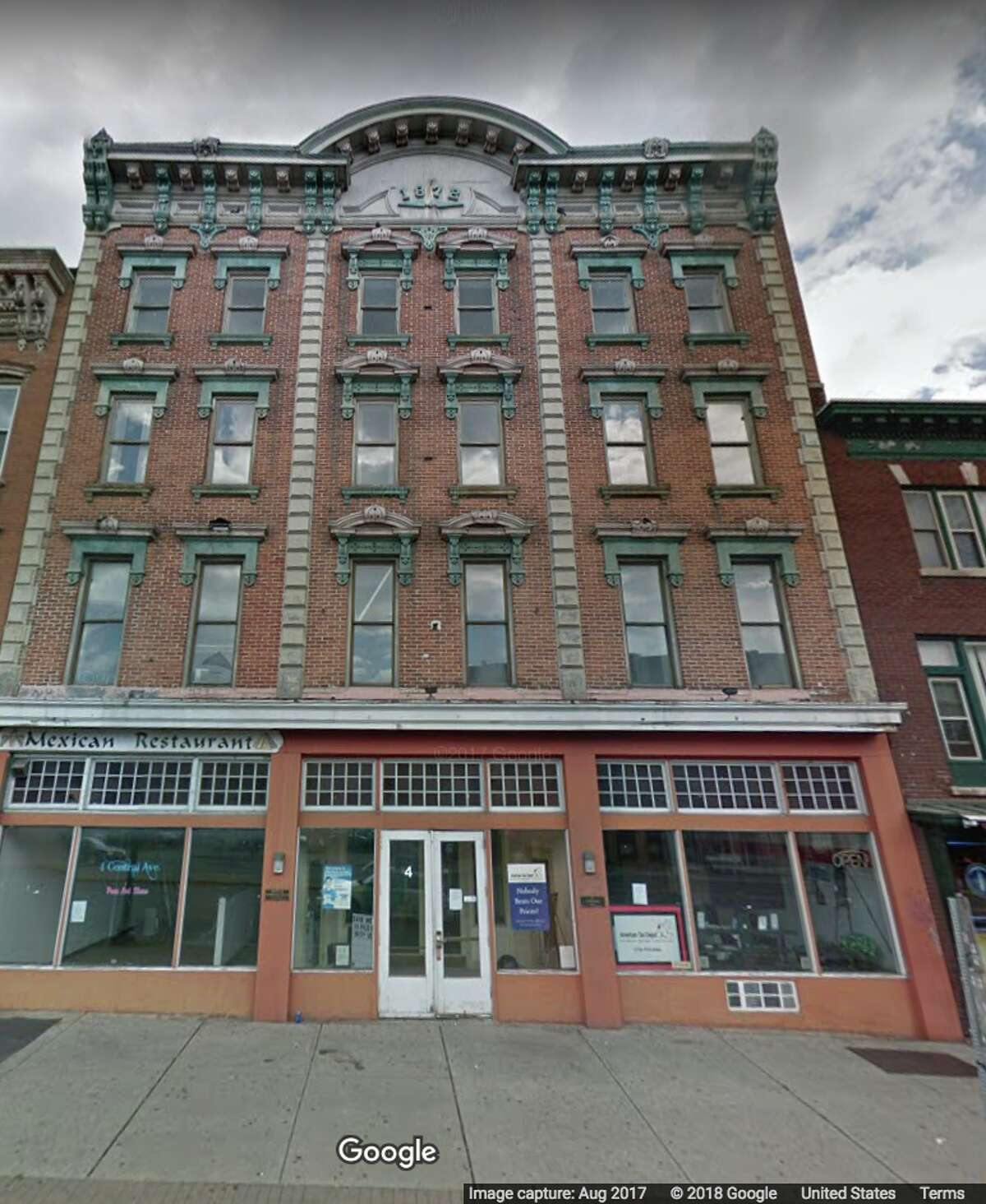 A Google Street View photo of 4 Central Ave. in Albany, N.Y.