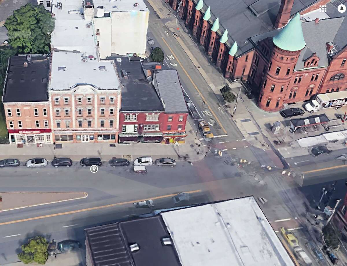 A Google Street View photo of 4 Central Ave., left, in Albany, N.Y.