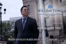 State Rep. William Tong of Stamford released his first television advertisement in the three-way Democratic primary for attorney general.
