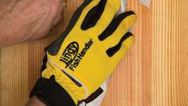 Armored gloves such as Lindy's Fish Handlers, which have contact surfaces made of a proprietary woven metal-like fabric that turns fish fins, gill plates and knife blades, offer anglers protection and a no-slip grip ability when landing, handling and cleaning fish.