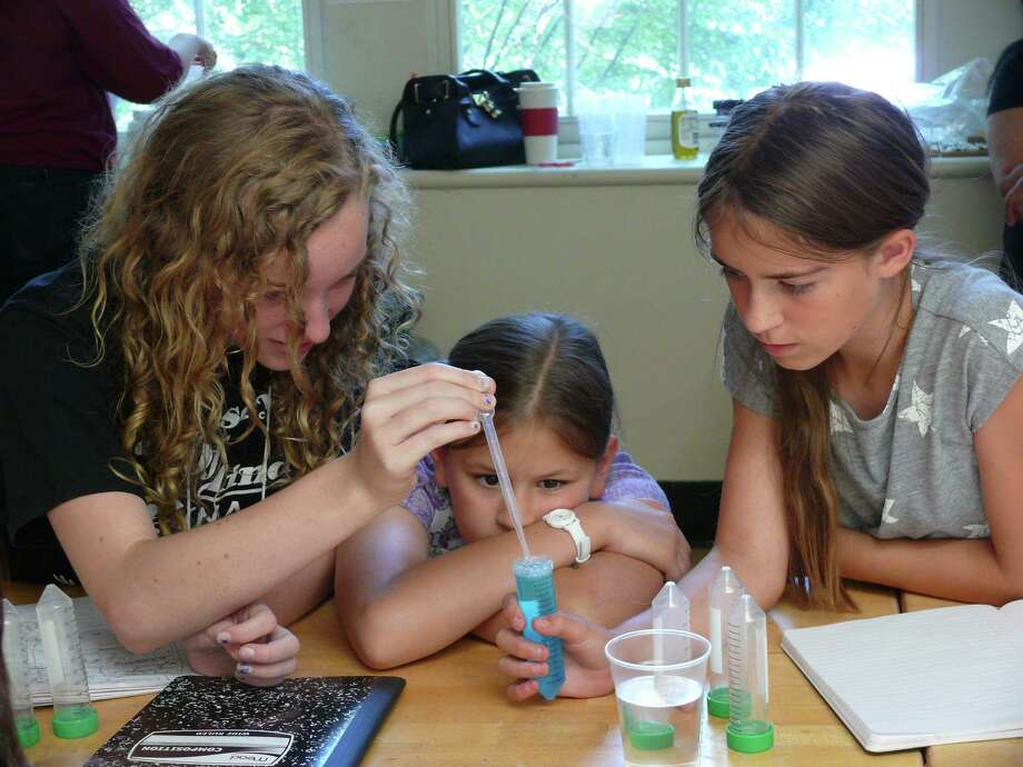 The Girls in Science camp, which runs Aug. 6 to 10 at Macdonough Elementary School, is a partnership between Wesleyan University and Middletown Public Schools. Photo: Contributed Photo