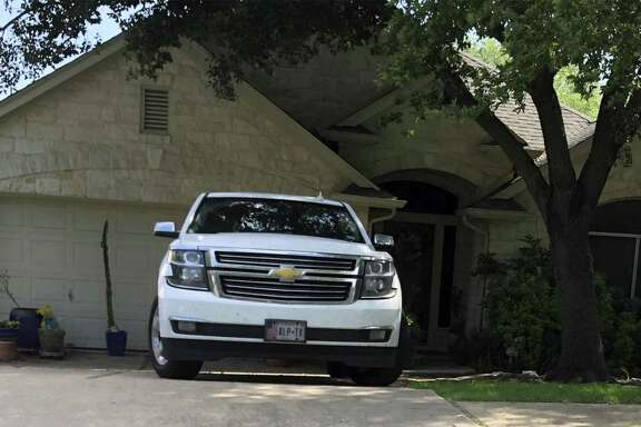 Photo of former Congressman Pete Gallego's truck is parked outside the Austin home he shares with his wife. Gallego claims residency in the West Texas town of Alpine but lives in Austin.