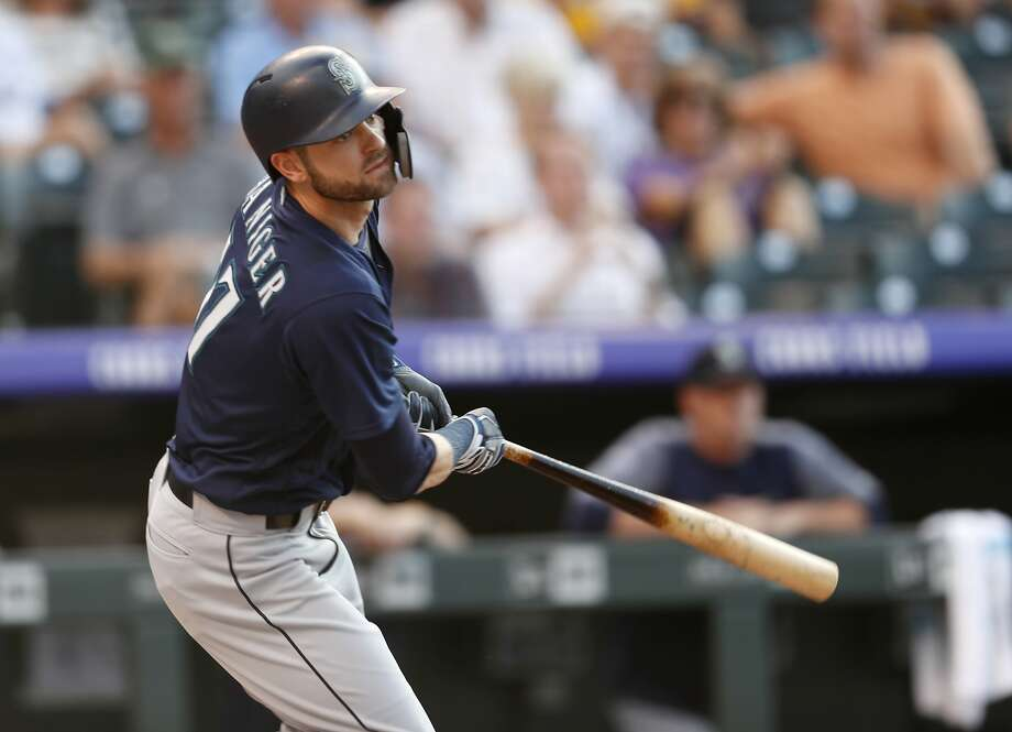 Mitch Haniger leads the Mariners with 67 RBIs as Seattle has defied expectations with a 58-39 record at the break. Photo: David Zalubowski / Associated Press