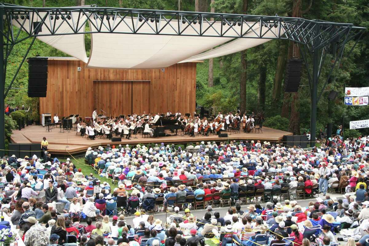 The San Francisco Symphony performs as a part of the annual Stern Grove Festival in 2016.