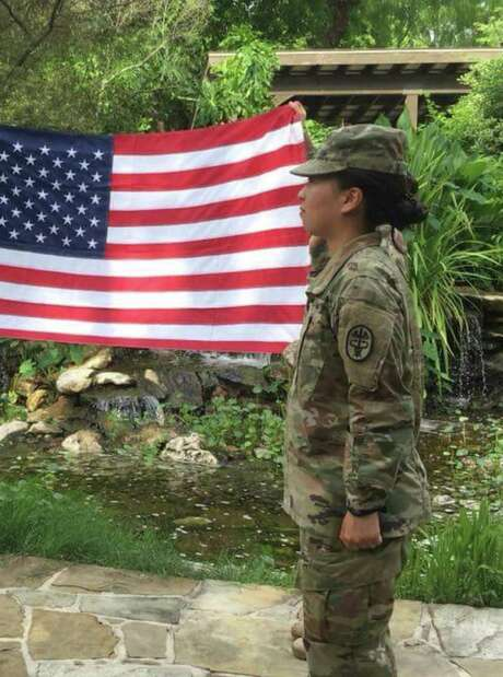 Spc. Yea Ji Sea, a combat medic at Joint Base San Antonio-Fort Sam Houston, re-enlisted in the Army last December after serving for four years. A Korean national who has sought U.S. citizenship, she learned Thursday she was discharged. Photo: /Courtesy Of Yea Ji Sea