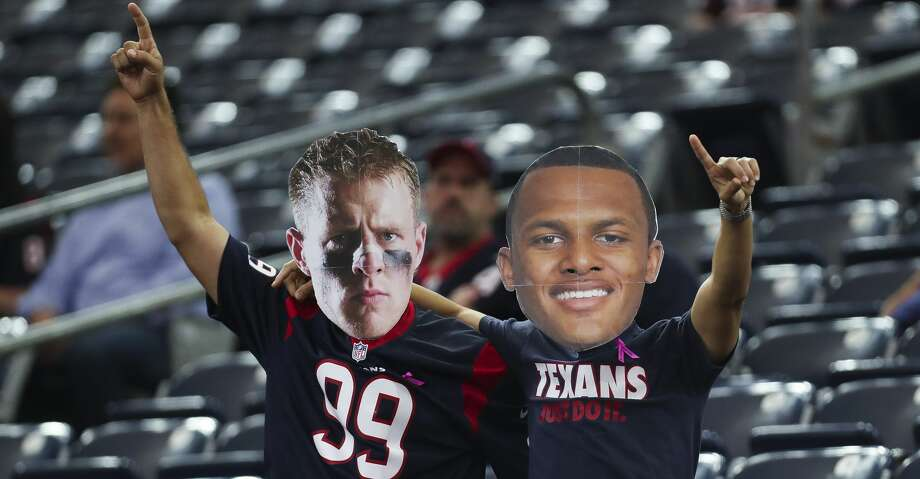 PHOTOS: Houston Texans 2019 schedule  Houston Texans fans dress up as Houston Texans defensive end J.J. Watt (99) and quarterback Deshaun Watson (4) before the Houston Texans take on the Kansas City Chiefs at NRG Stadium Sunday, Oct. 8, 2017 in Houston. ( Michael Ciaglo / Houston Chronicle) >>>Here's a look at the Texans' schedule this season ...  Photo: Michael Ciaglo/Houston Chronicle