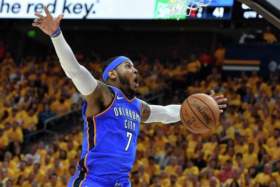 Forward Carmelo Anthony is adept as a catch-and-shoot threat from anywhere along the 3-point line, but could be a defensive liability for the Rockets.