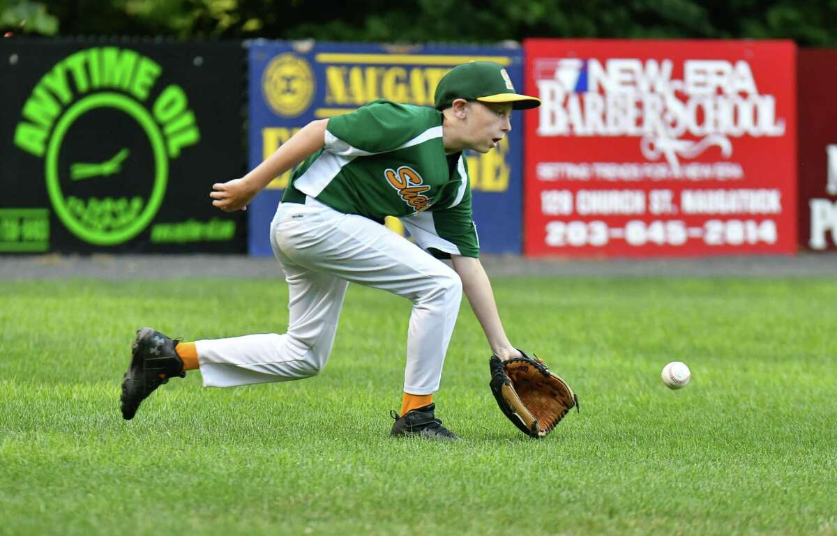 Section 2 Little League baseball action between Shelton American and Wallingford on Thusday July 19, 2018, at Peter J. Foley Field in Naugatuck, Connecticut.