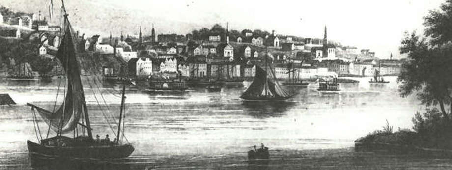 Alton on the Mississippi, as painted by Henry Lewis, a German painter who published a book of Mississippi River scenes in 1858. Lewis floated the Mississippi, recording many town scenes along the way. Photo:       File Photo