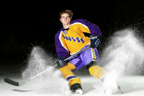 Nolan Kahl of Bethalto scored a whopping 52 goals and added 17 assists and is the 2018 Telegraph 2018 Small-School Hockey Player of the Year.