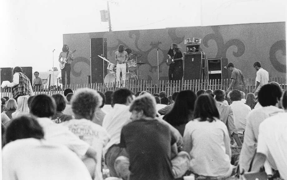 Frijid Pink with Gary Thompson on guitar, Tom Harris on bass, Richard Stevers on drums and Tom Beaudry on vocalsat Midland (Michigan) concert. August 1969 Photo: Midland (Mich.) Daily News Photo