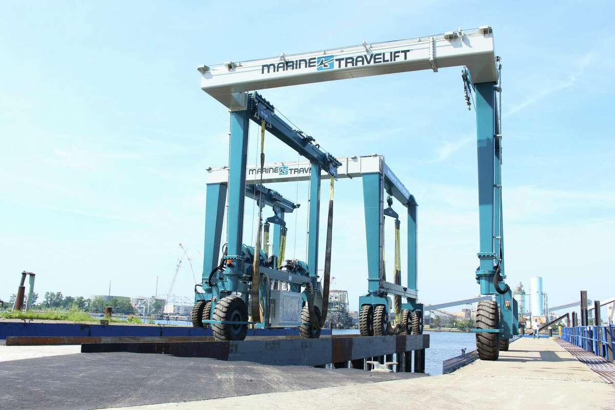 New to the site are two travel lifts, one 45-ton lift and a larger 200-ton lift which will accommodate recreational and commercial vessels