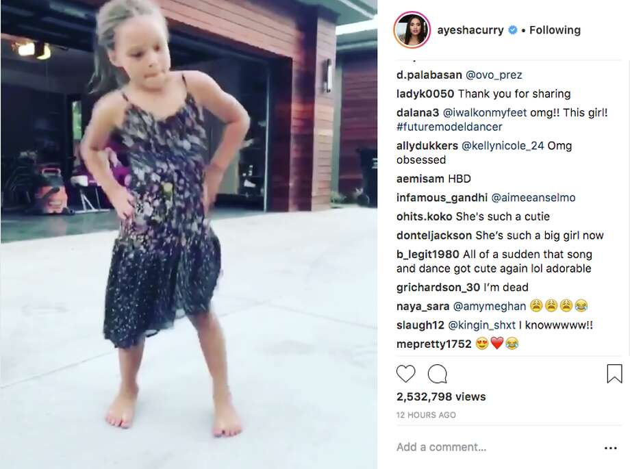 Ayesha Curry shared an adorable video of Riley doing the #InMyFeelingsChallenge for her sixth birthday. Photo: Instagram