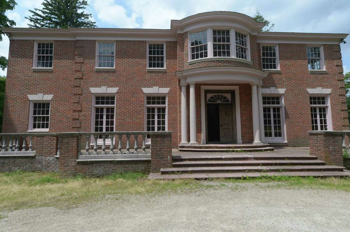The Westport home of the late Baron Walter Langer von Langendorff on Wednesday. The future of the Baron's mansion in Westport has been a long contested issue for the town.