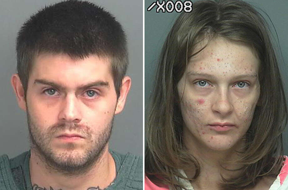 Justin Coers and Megan Potts were arrested on multiple charges July 19 after they allegedly led police on a chase in a stolen vehicle and rammed a patrol car. Photo: Montgomery County Jail