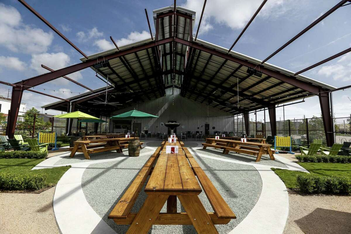 Saint Arnold Brewing Co. previews their new beer garden and restaurant July 18, 2018 in Houston. (Michael Ciaglo / Houston Chronicle)