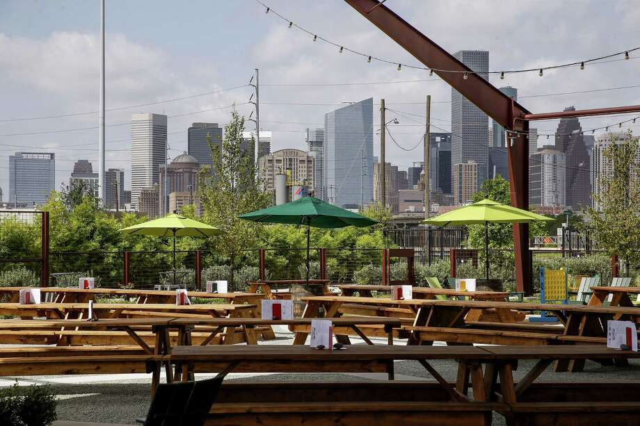 Saint Arnold Brewing Co. previews their new beer garden and restaurant July 18, 2018 in Houston. (Michael Ciaglo / Houston Chronicle) Photo: Michael Ciaglo, Staff / Houston Chronicle / Michael Ciaglo