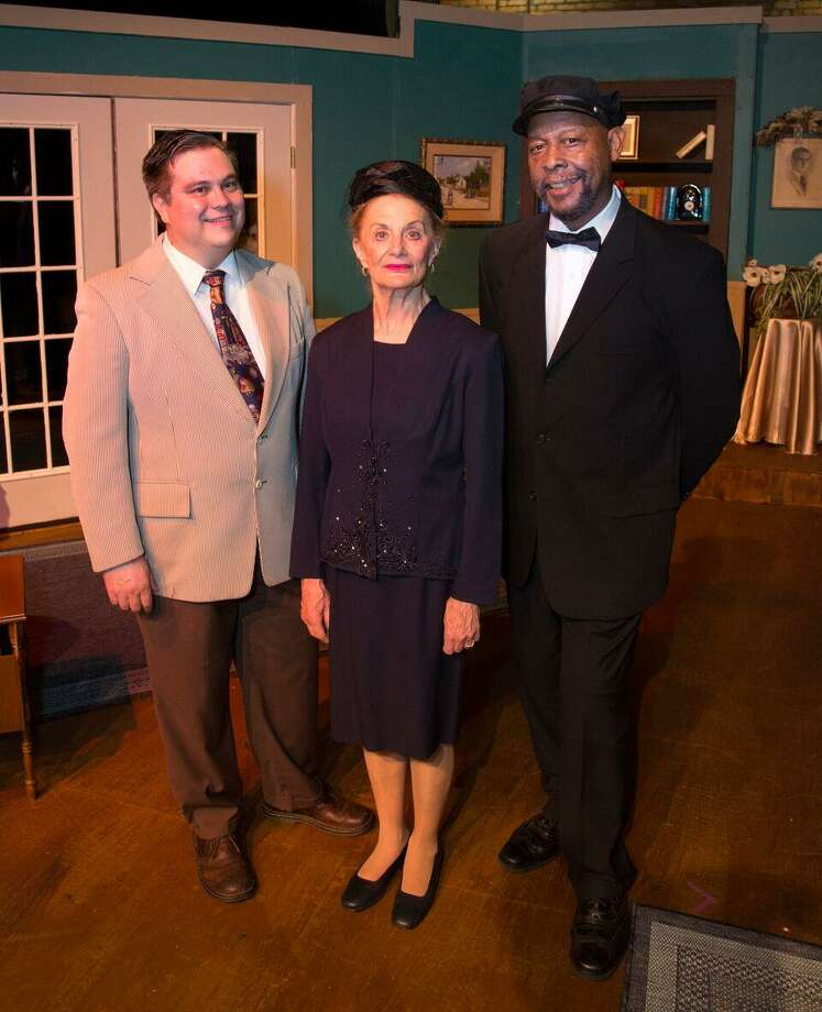 "From left, Timothy Eggert as Boolie, Marilyn Moore as Daisy Werthan and Arthur L. Stringer as Hoke Colburn in a Players Theatre Company fundraiser show of ""Driving Miss Daisy"" Aug. 4-5 at the Owen Theatre. Moore and Stringer are reprising their roles from ""Driving Miss Daisy"" done by Stage Right in the group's 2013-14 season. Photo: Photo By Brad Meyer"