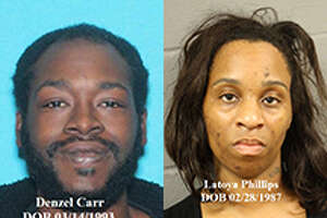 Denzel Carr and Latoya Phillips are charged with aggravated kidnapping and aggravated assault in Harris County.