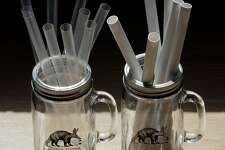 Compostable straw alternatives being tested at the Boba Guys store in San Francisco , Calif., on Monday, July 16, 2018. Board of Supervisors votes tomorrow on a plastic-straw ban that would go into effect at the end of July. It may have a large impact on the city's hundreds of shops and restaurants that serve bubble tea, because there are so few alternatives to the fat plastic straws essential to drinking the beverage. Boba Guys has done a ton of research on alternatives.