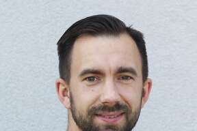 Magnolia West head boys soccer coach Christian Boehm