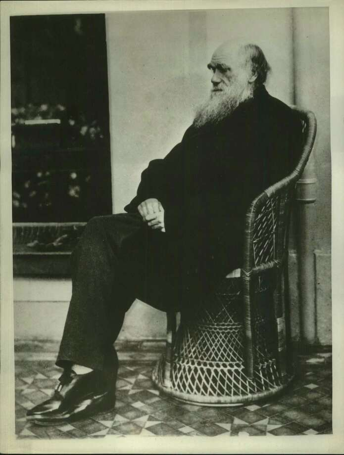 "Charles Darwin's ""The Origin of Species,"" published about 100 years ago, expounded the theory of evolution. Creationists continue to insist it isn't proven, final science. Photo: /AP (Associated Press) / San Antonio Express-News"